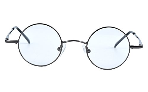 Agstum Small Round Prescription Eyeglasses Frame Clear Lens 37mm (X-small - Small Spectacles Round