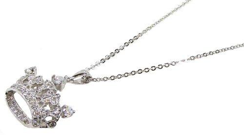 MusicBoxAttic A Unique Silver Crown Pendant With Cubic Zerconia Stones (Zerconia Stones Cubic)