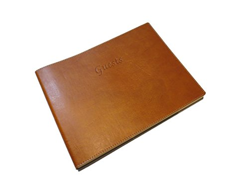 - Soft Cover Italian Leather Guest Book with