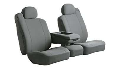 Fia SP87-28 GRAY Custom Fit Front Seat Cover Split Seat 40/20/40 - Poly-Cotton, (Gray)