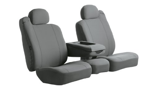 Fia SP87-17 GRAY Custom Fit Front Seat Cover Split Seat 40/20/40 - Poly-Cotton, ()