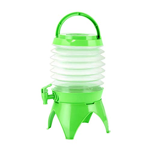 Lotus.flower Water Storage, Telescopic Folding Water Storage Bucket,Portable Water Container Outdoor Folding for Camping,House Emergency Water Storage (Green) by Lotus.flower