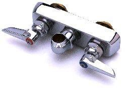 T&S Brass B-1136 Work Board Faucet, Wall Mount, 4 Centers, 18 Double Joint Nozzle, Lever Handles by T&S Brass B0019LTTPG