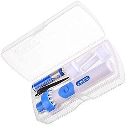 Ohrwachsentferner,Portable Ohrenreiniger Elektrisch Mit 2 Soft Silicone Kopfs,Ohrwachs Entfernungs Tool Kit F/ür Kinder und Erwachsene Ohrenreiniger Ear Wax Cleaner