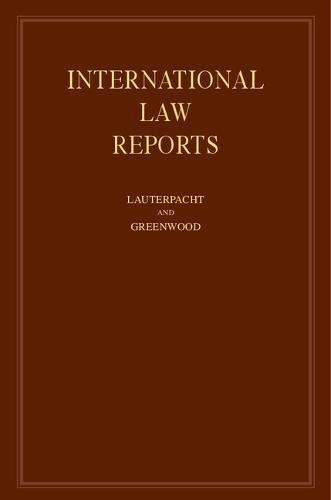 International Law Reports (Volume 99)