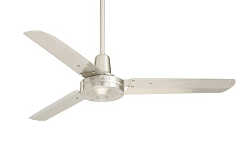 Emerson Ceiling Fans HF948BS industrial Fan, Indoor Ceiling Fan With 48-Inch Blades, Brushed Steel Finish from Emerson