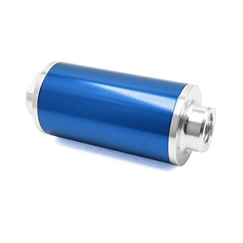 Sourcingmap Universal Car Blue Engine Petrol Diesel Gas Inline Fuel Filters AN6 AN8 AN10: