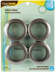 Dritz Curtain Grommets 1.56 Inch Inner Diameter (8 Pack) - Pewter