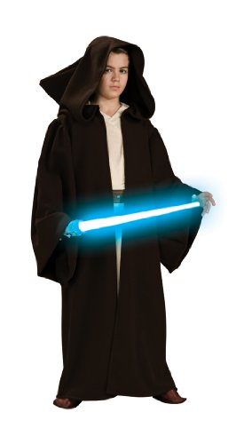 [Star Wars Child's Super Deluxe Jedi Robe Costume,Medium] (Best Nerd Girl Halloween Costume)