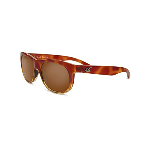Kaenon Men's Stinson Polarized Rectangular Sunglasses, Blonde Tortoise Fade, 53.5 - Tortoise And Eyewear Blonde