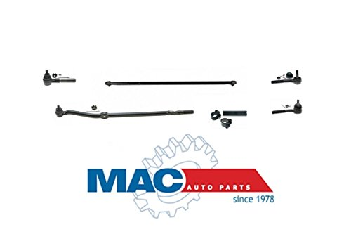 Mac Auto Parts 39139 Wrangler Drag Link Tie Rod Rods Ball Joints 8Pc Kit