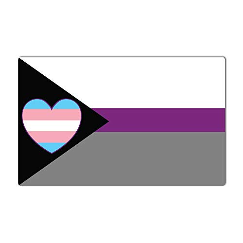 - Dark Spark Decals Demi-Sexual LGBT Transgender Heart Flag - 14 Inch Full Color Vinyl Decal for Indoor or Outdoor use, Cars, Laptops, Décor, Windows, and More