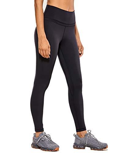 CRZ YOGA Women's Naked Feeling I High Waist Tight Yoga Pants Workout Leggings-25 Inches Black 25'' - R009 M
