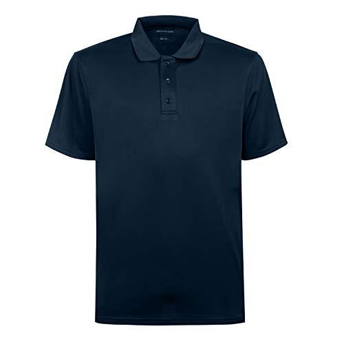 - MOHEEN Men's Short Sleeve Moisture Wicking Performance Golf Polo Shirt (Navy,M)