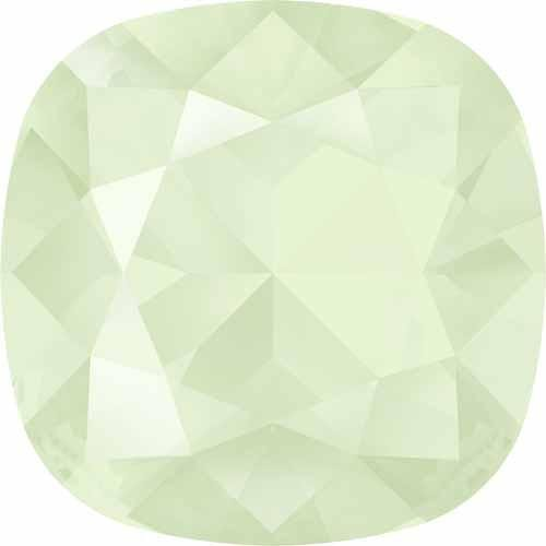 - 4470 Swarovski Fancy Stones Cushion 12mm Crystal & Shimmer Effects   Crystal Powder Green   12mm - Pack of 1   Small & Wholesale Packs