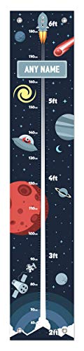 (Astronomy Gifts for Kids Any Name Growth Height Chart for Kids Space Decor Personalized Growth Chart )