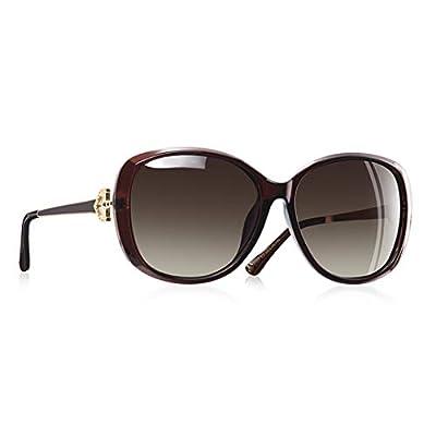 Women Polarized Sunglasses NEW Lady Sun Glasses Female Rhinestone Temple Shades Eyewear UV400 A151