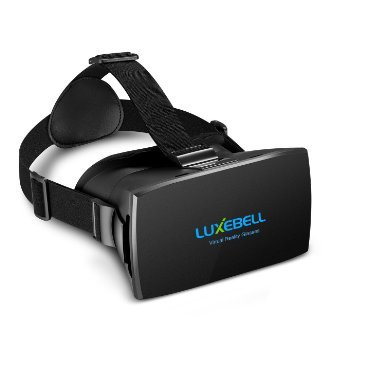 Luxebell 3D VR Glasses Virtual Reality Headset for 3D Movies and Games Compatible with 4.7-6 Inch Smartphone iPhone 5/5s/6/6s,Adjustable Strap, Phone Holder (VR Glasses)
