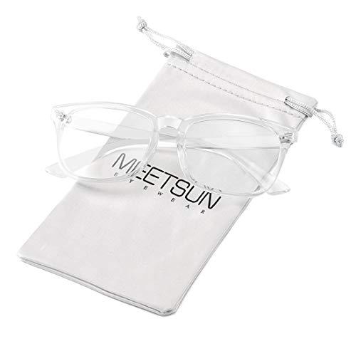- MEETSUN Blue Light Blocking Glasses Nerd Eyeglasses Frame,Anti Blue Lights Computer Reading Gaming Glasses For Women Men Transparent Clear Frame Lens HEV