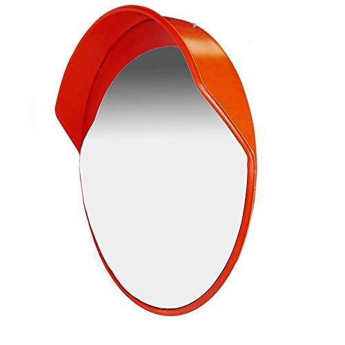 Traffic mirror 45 55 60 cm Wall Mount for Road and Store Security Belt Adjustable Wall Mount Bracket Y0603QA (Size : 55cm) ()