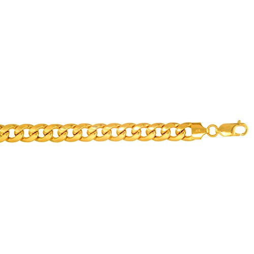 14Kt Yellow Gold Miami Cuban Curb Link Mens Chain/Bracelet 8.5