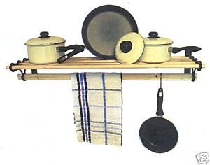 Pot / Pan Rack shelf 1.5m AGA kit Black Cast Iron OriginalForgery