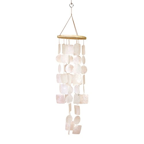 Decor Set Capiz Shell - Amazing Grace Beautiful Wind Chime White 20