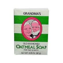 Pack of 2 x Grandpa's Oatmeal Bar Soap for Face and Bath - 3.25 oz