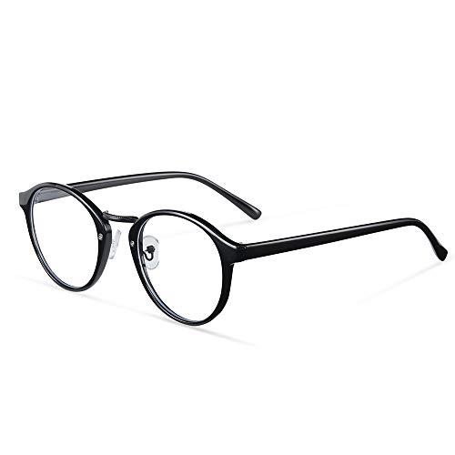 Shayin Blue Light Blocking Glasses Round Eyeglasses Frame Anti Blue Ray Computer Game Glasses