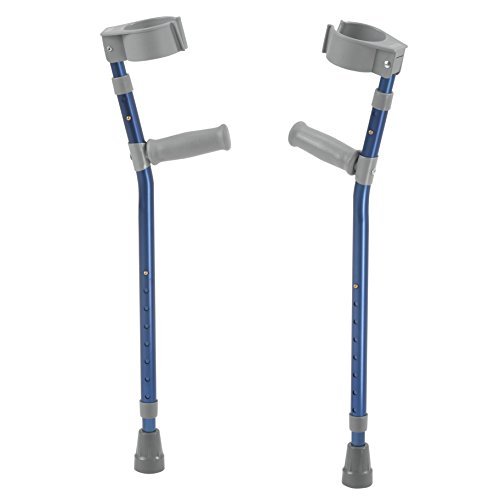 Inspired by Drive Pediatric Forearm Crutches, Knight Blue, Small