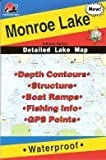 Monroe Lake Waterproof Fishing Map (Indiana Fishing Map Series, L192)