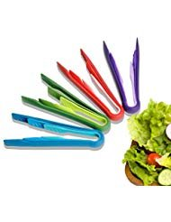 BabeTongs PP Plastic Kitchen Tongs Multi-functional Foof Clamp Environmental Food Clamp Three Piece(6-In,8-In,10-In)