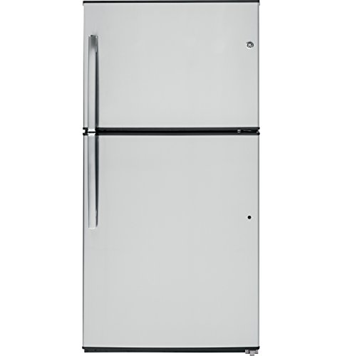 GE GTE21GSHSS 21.2 Cu. Ft. Stainless Steel Top Freezer Refrigerator - Energy Star by GE