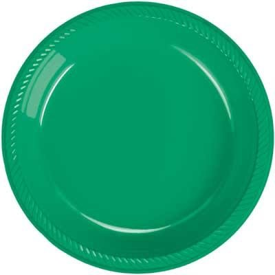 Christmas Green Plastic Dinner Plate 20 Count  sc 1 st  Amazon.com : plastic christmas dinner plates - pezcame.com