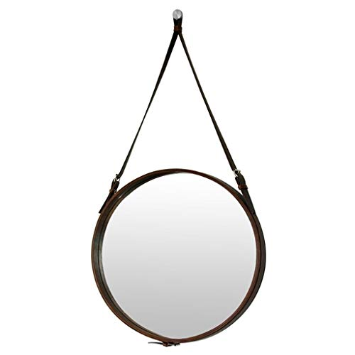 (Selm Makeup Mirror Wall Mounted,Hanging Mirror with Rope Decorative Hanging Vanity Mirror for Bedroom, Bathroom and Living Room)