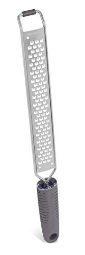 Internet's Best Stainless Steel Zester | Regular Square Shavings | Cheese Lemon Potato Ginger Grater with Blade Cover | Hand Zester Non-Slip Rubber Base - Ginger Shaver