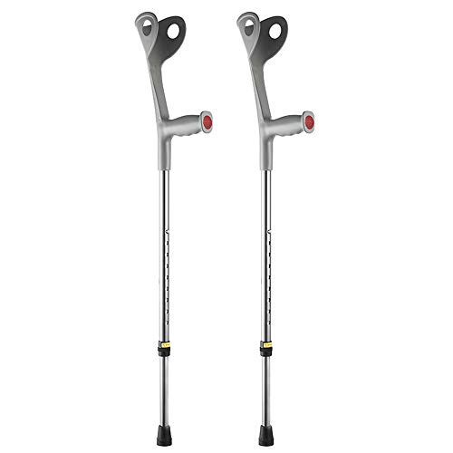 YUWELL Adjustable Lightweight Arm Cuff Crutch,Forearm Crutches Ergonomic,Applicable to Elderly and Infirm,Slightly Disabled Lower Limbs or Injured Lower Limbs(1 Pair)