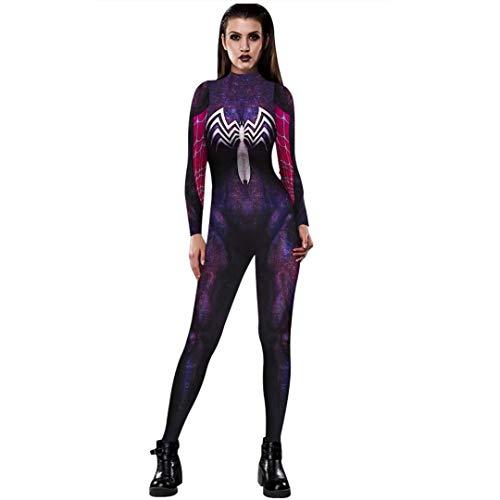 Tsyllyp Gwenom Costume Women Venom Spider-Man Gwen Spider Cosplay Suit -