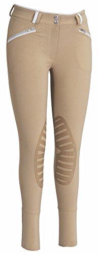 (TuffRider Women's Sprint Knee Patch Breech, Safari/White, 30)