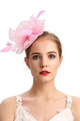 Hats Headwear - Czioe Flower Cocktail Tea Party Headwear