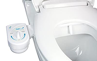 Brondell Inc. FS-10 FreshSpa Easy Bidet Toilet Attachment, White