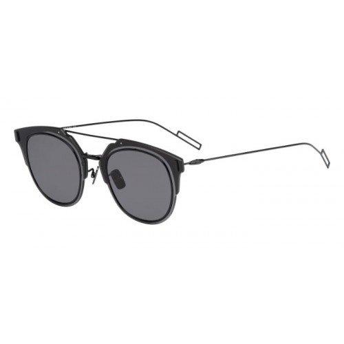 Dior Homme Composit 1.0 006 Black Composit Round Sunglasses Lens Category 3 ()