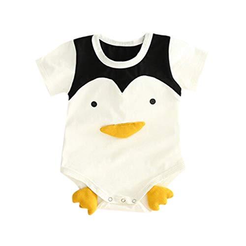 CCSDR Baby Boys&Girls Letter Cartoon Printed 3D Romper Newborn Toddler Crewneck Short Sleeve Costume Bodysuit White