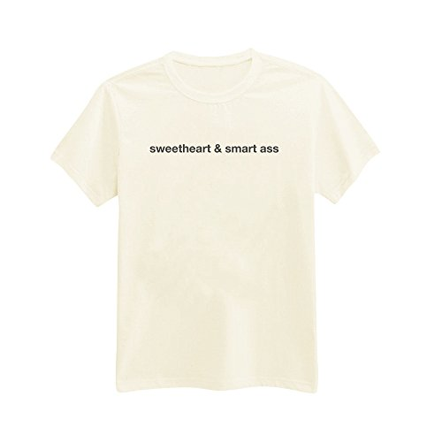 Andre's Designs Unisex Adult's Sweetheart & Smart Ass - Bitchy - Funny - Sassy T-Shirt XXL Ivory -