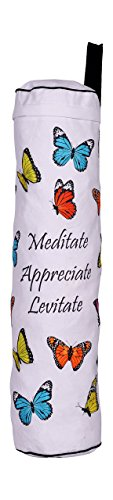 Price comparison product image Eco Corner Cotton Butterfly Yoga Mat Bag Large White