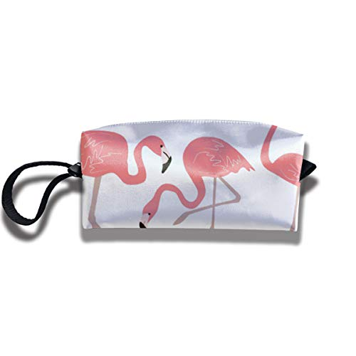 Whimsy Mat - Dfsdfkj Pink Flamingos Tropical Whimsy Bathroom Mat Personality Receive Bag Makeup Bag Home Office Travel Camping Sport Gym Outdoor Cosmetics Bag Case Purse Travel & Home Portable Make-up Receive Bag