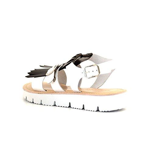 Exalter Of Sandali Bottega Bianco King Nero Fringe BnntZx1w8