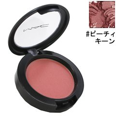 MAC Sheertone Shimmer Powder Blush Peachykeen for Women, 0.21 Ounce