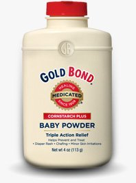 Gold Bond Cornstarch Plus Baby Powder 4 oz (Pack of 5) by Gold Bond