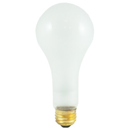 Bulbrite 200A/HL 200-watt High Lumen Incandescent A23, Medium Base, Frost (A23 Medium Base)